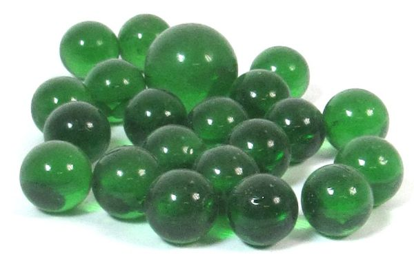 Decorative glass marbles